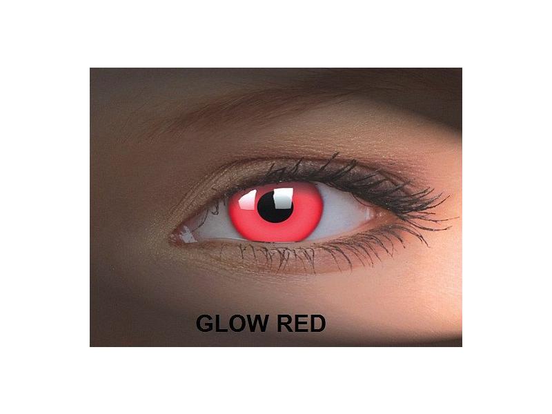 Crazy GLOW (2šošovky) - Glow Red