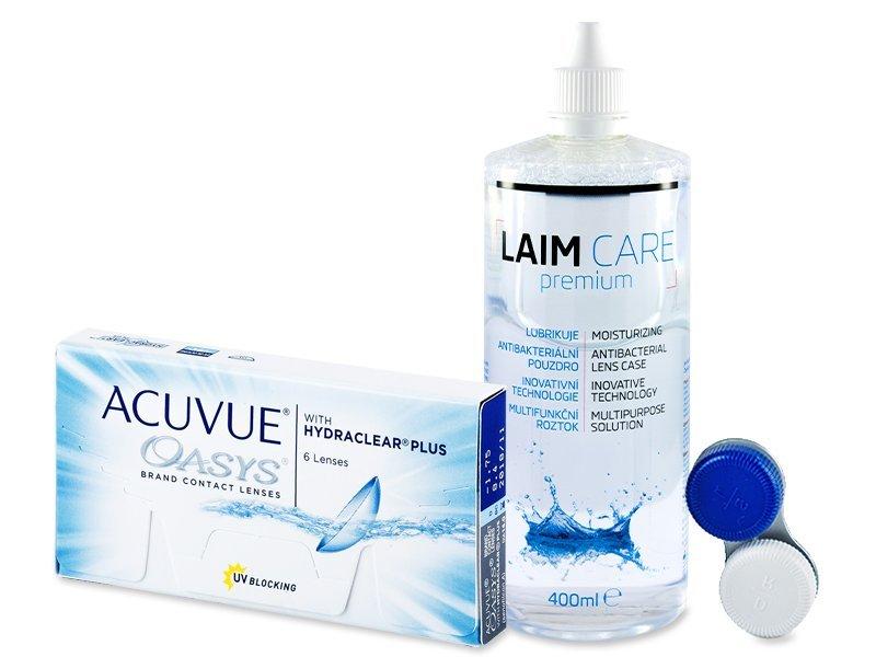 Acuvue Oasys (6šošoviek) + roztok Laim Care 400ml - Výhodný balíček