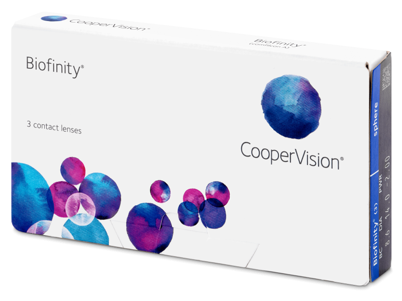 Biofinity (3 šošovky) -  Monthly contact lenses