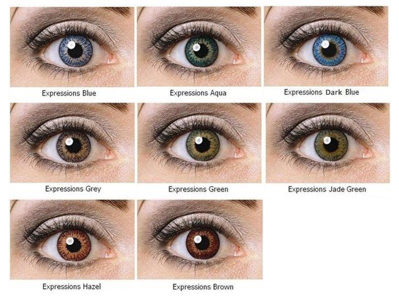 Nedioptrické farebné šošovky Expressions Colors  c218d906f75
