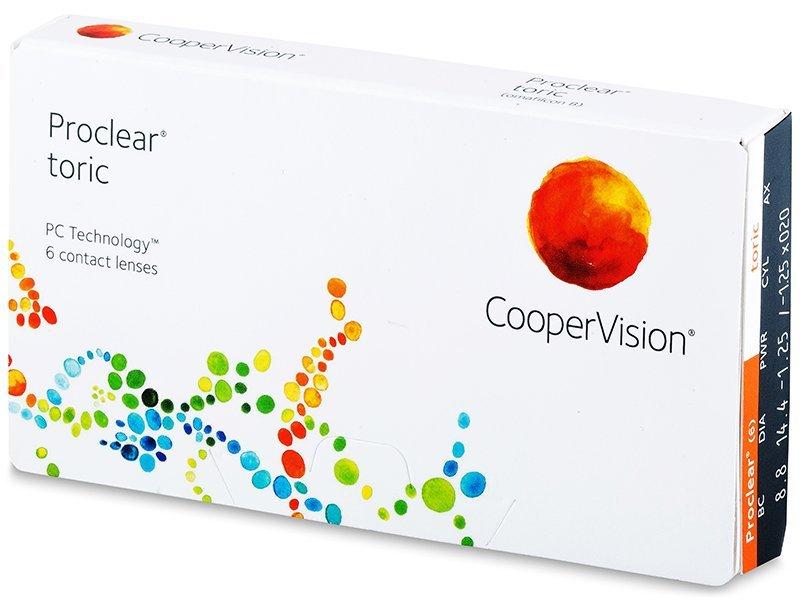 Torické kontaktné šošovky - Proclear Toric (6šošoviek)