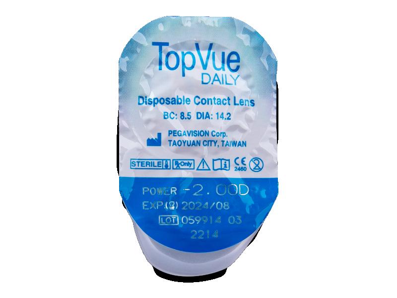 TopVue Daily (30šošoviek) - Vzhľad blistra so šošovkou