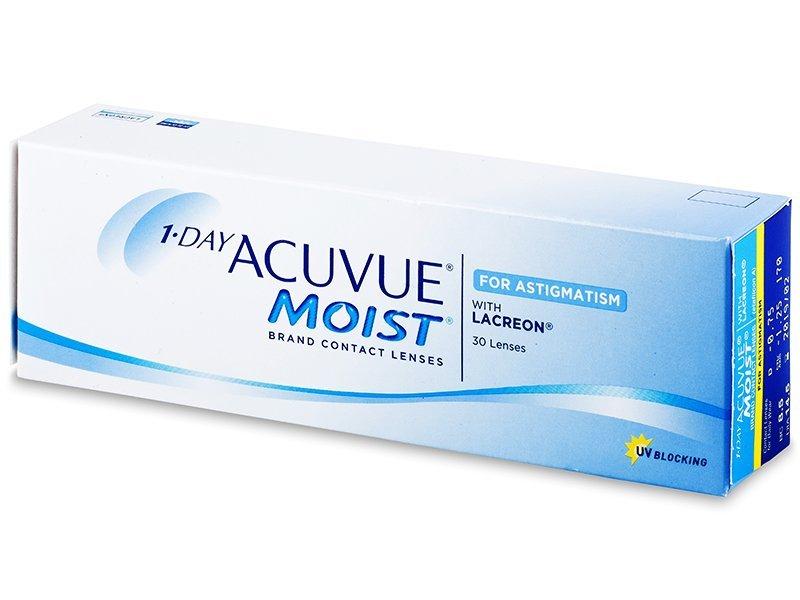 1 Day Acuvue Moist for Astigmatism (30šošoviek) - Torické kontaktné šošovky