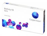 Mesačné kontaktné šošovky - Biofinity XR Toric (3 šošovky)