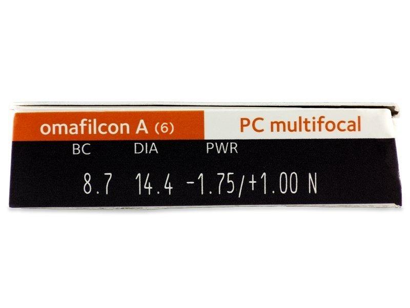 Náhľad parametrov šošoviek - Proclear Multifocal (6šošoviek)
